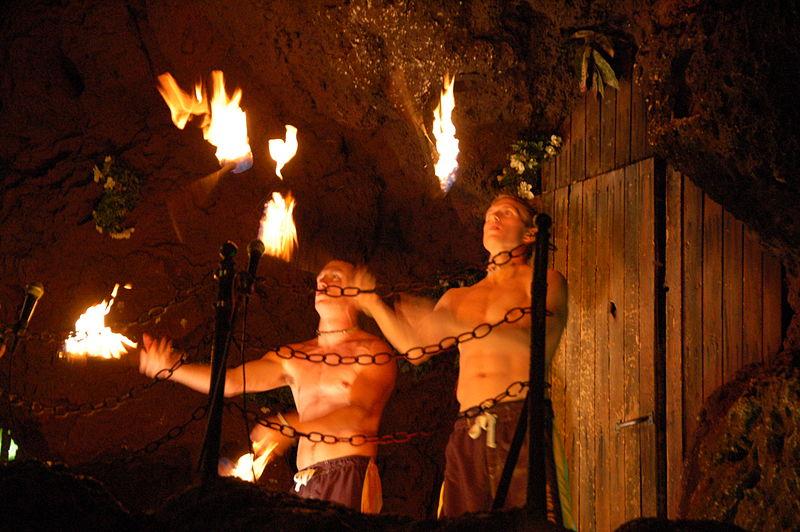 Casa Bonita Torch Juggling. Source: Wikimedia Commons