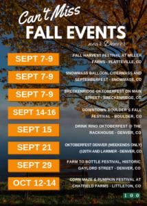 September 2018 Events Around Denver, Colorado