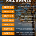 September 2018 Events Around Denver, Colorado